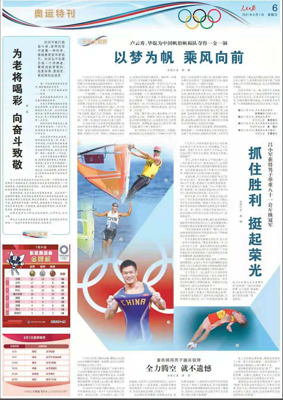 张小冬:当更多青少年追随奥运的脚步乘风破浪,中国帆船未来可期
